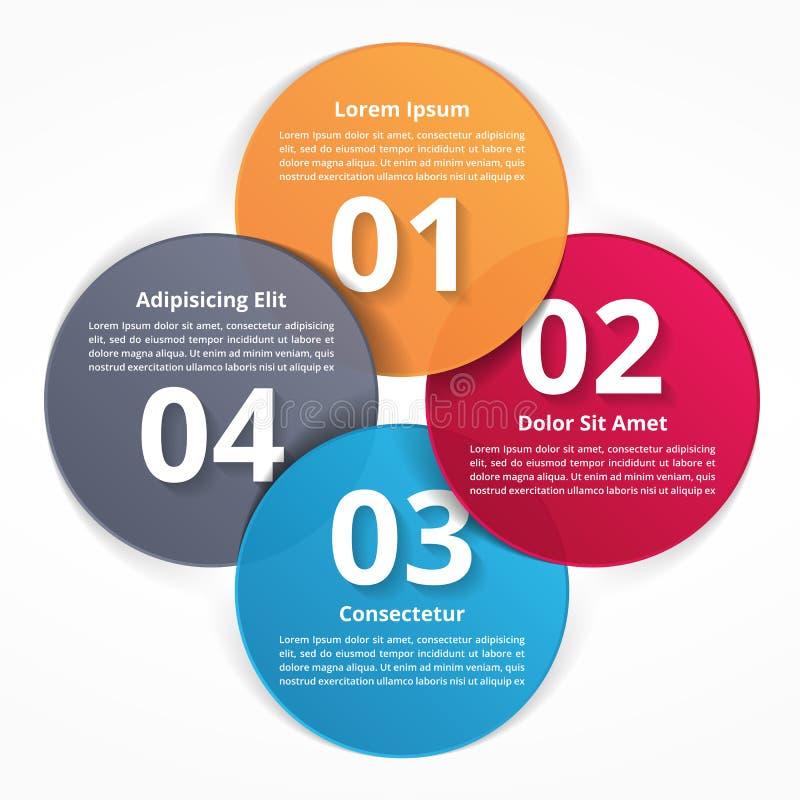 Vier stappeninfographics stock illustratie
