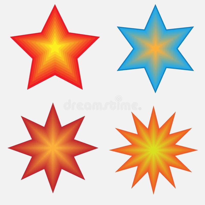 Vier Sterne lizenzfreies stockfoto