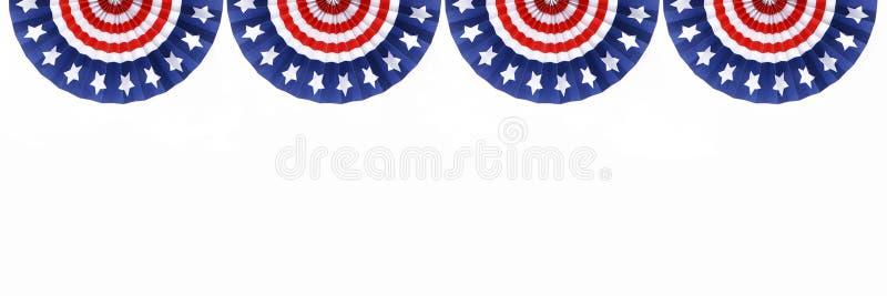 Vier US-Markierungsfahnen-Flaggen stockfotos