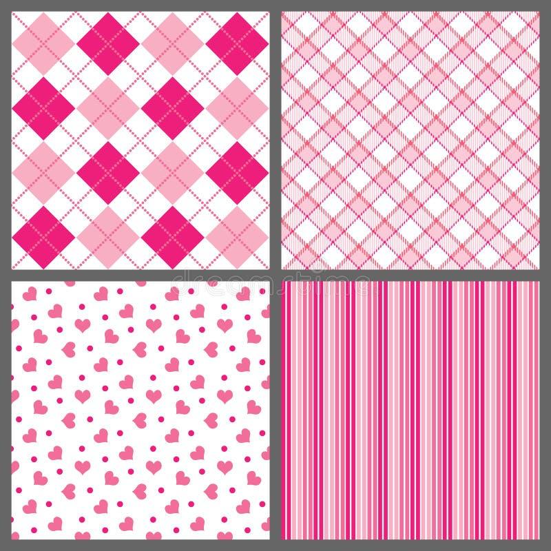 Vier Valentinsgruß-Muster vektor abbildung