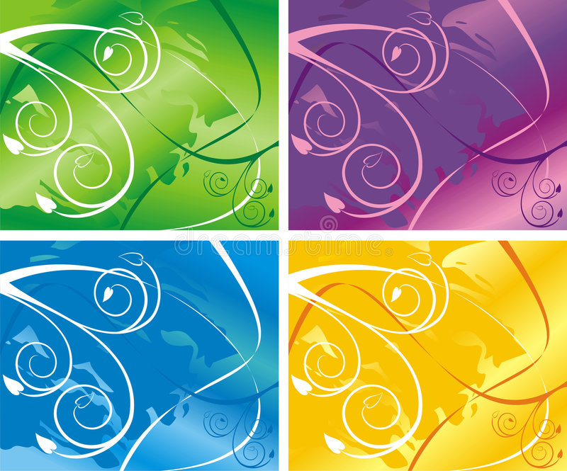 Vier Varianten lizenzfreies stockbild