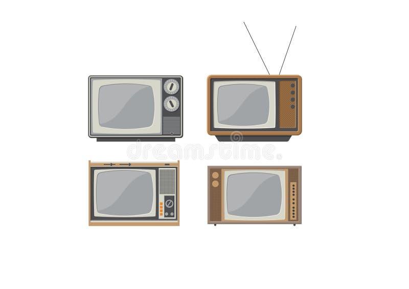 Vier vectortelevisies stock foto