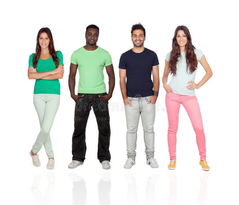 Vier verschiedene erwachsene Personen lizenzfreie stockbilder