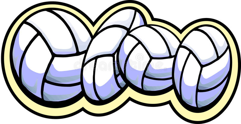 Vier volleyball royalty-vrije illustratie