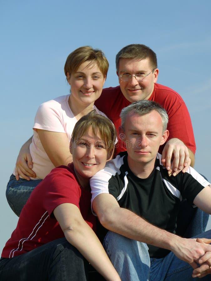Vier Vrienden stock fotografie