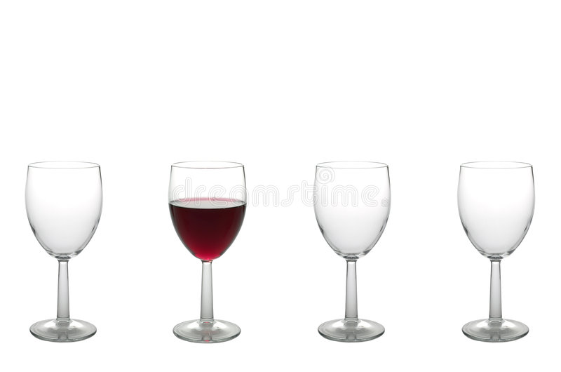 Vier Wein-Gläser stockbild