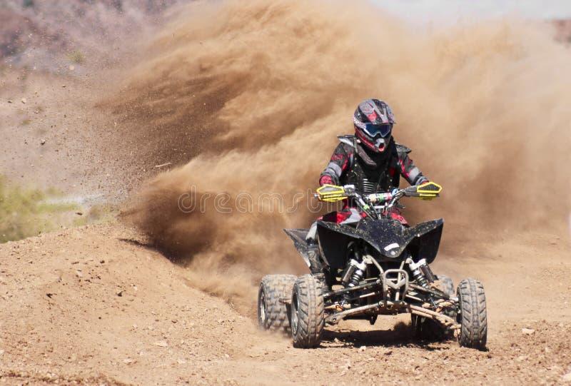 Vier Wheeler Racer Practices in SARA Park stock afbeeldingen