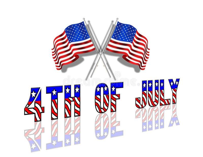 vierde van de Patriottische Achtergrond van Juli royalty-vrije illustratie