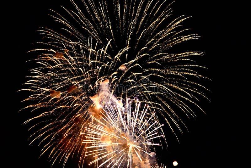 vierde van de Vertoning van het Vuurwerk van Juli stock foto's