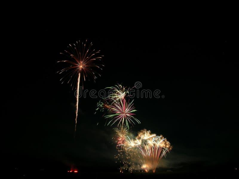 vierde van Juli-Vuurwerk stock fotografie