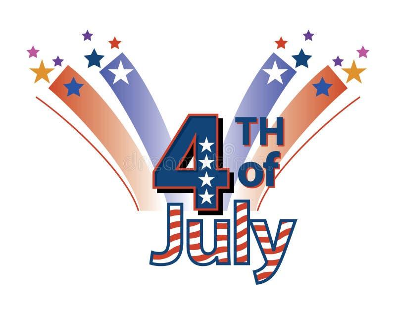 Vierde van Juli stock illustratie