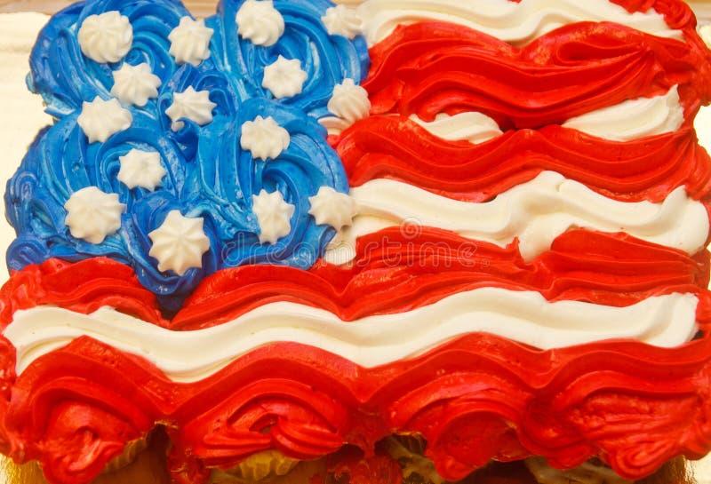 Vierde van Juli Cupcakes royalty-vrije stock afbeeldingen