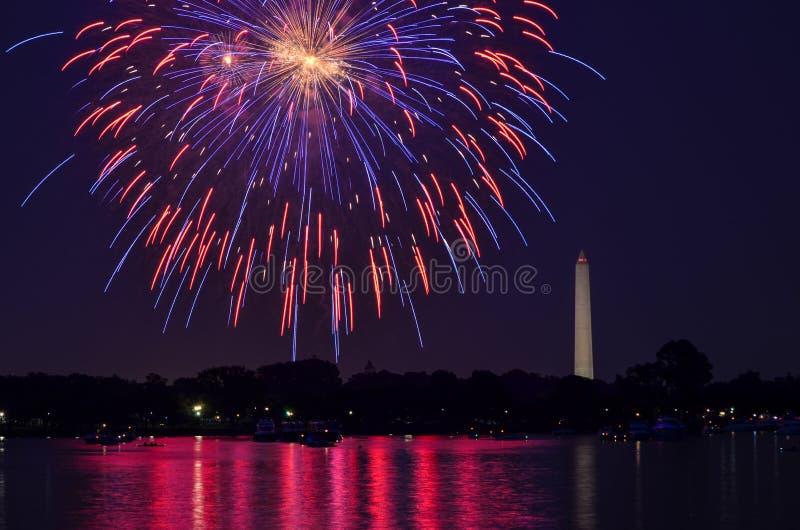 Vierde van Juli in Washington DC stock foto