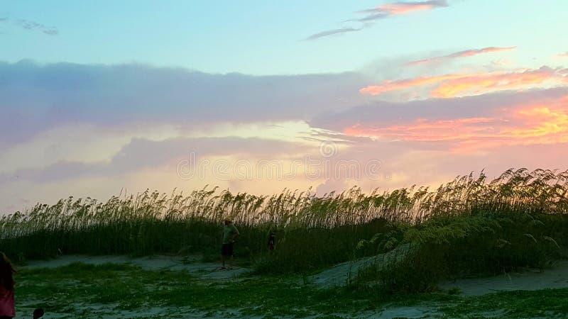 vierde van Juli-zonsondergang stock fotografie