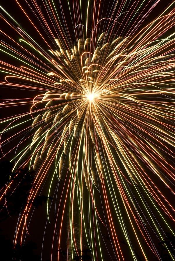 Vierde Vuurwerk van Juli stock foto