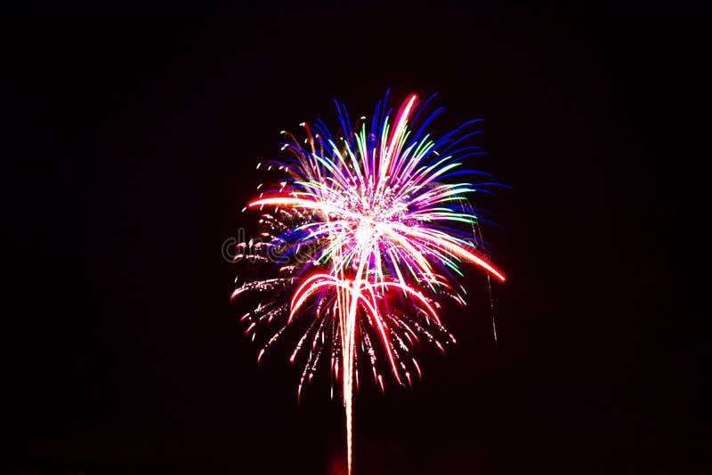 Vierde Vuurwerk van Juli stock afbeeldingen