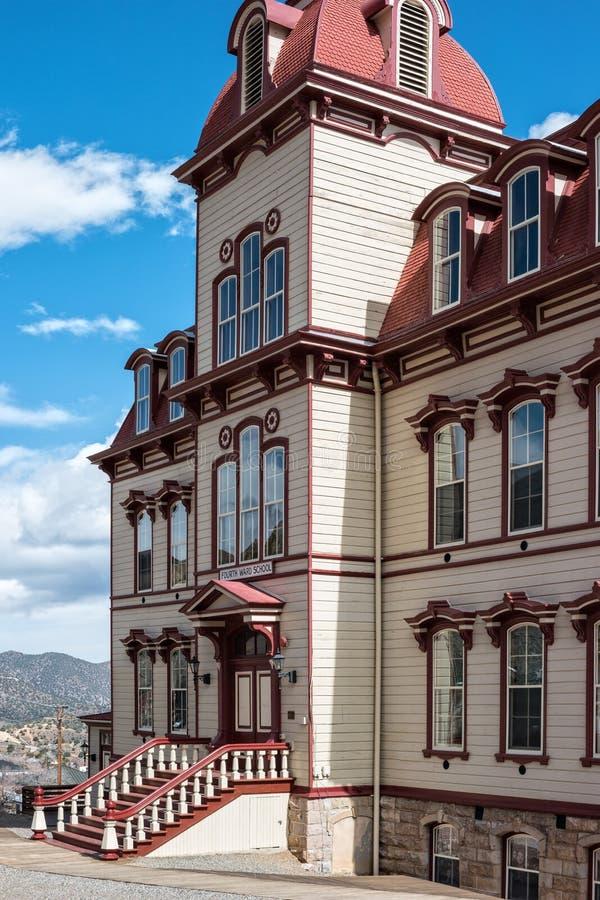Vierde Ward School, Virginia City, Nevada stock foto's
