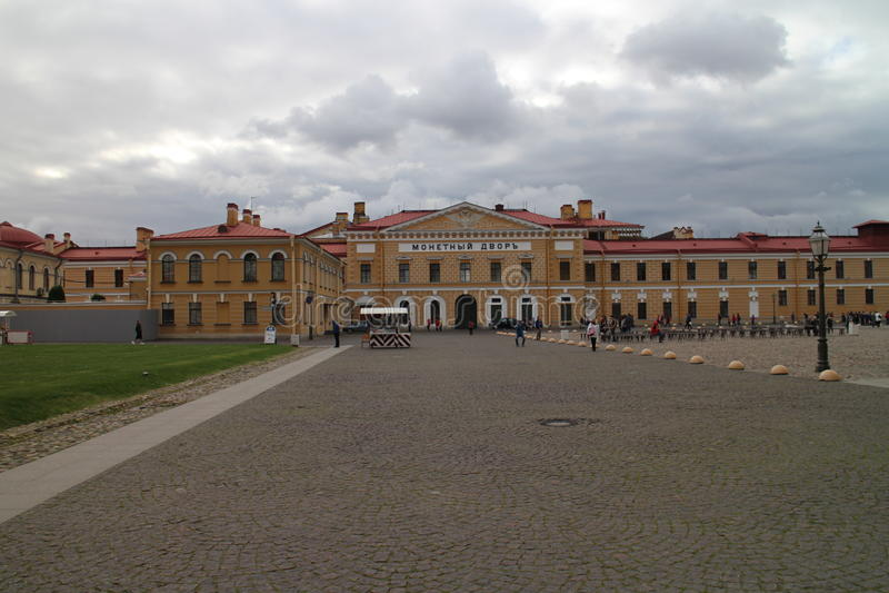 Viereck in Peter und in Paul Fortress in St Petersburg stockfotos