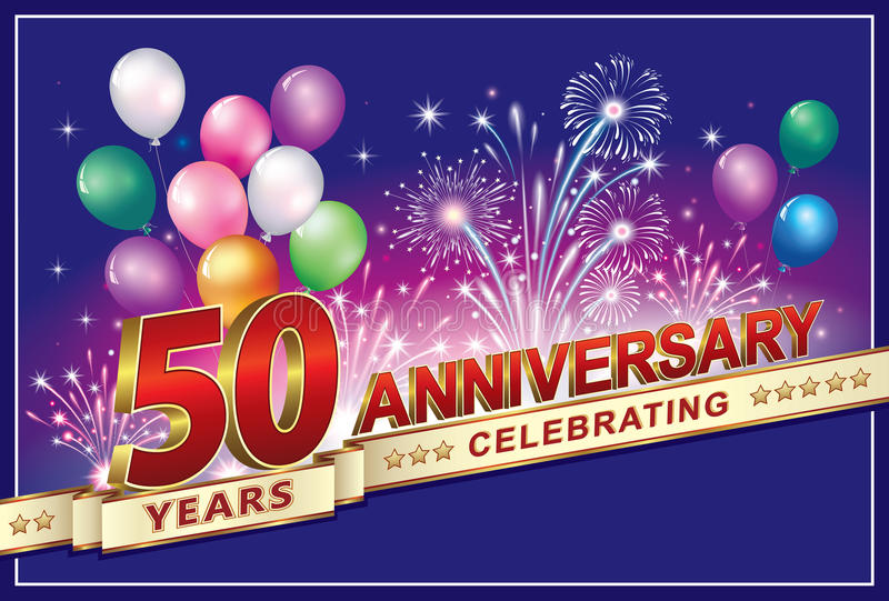Vierend de verjaardag 50 jaar vector illustratie