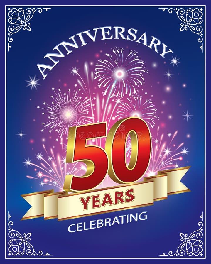 Vierend 50 jaar verjaardags vector illustratie