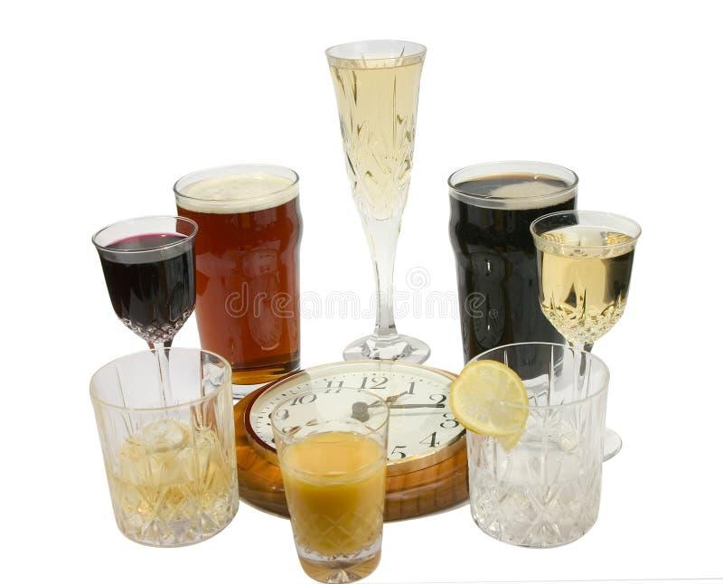 Vierentwintig uur het drinken royalty-vrije stock afbeelding
