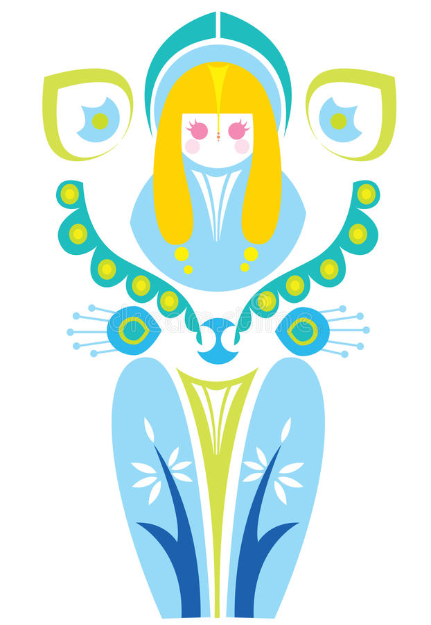 Vierge illustration stock