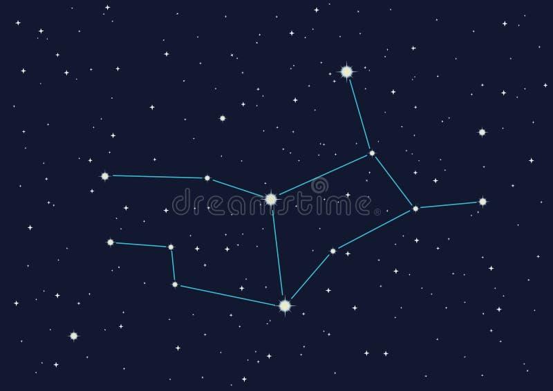 Vierge de constellation illustration de vecteur