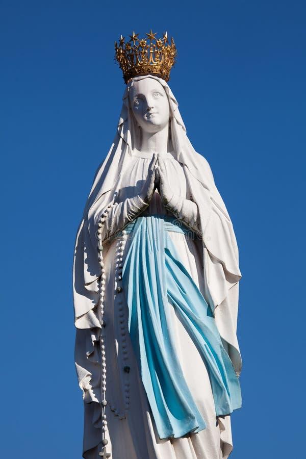Vierge de Lourdes photo libre de droits