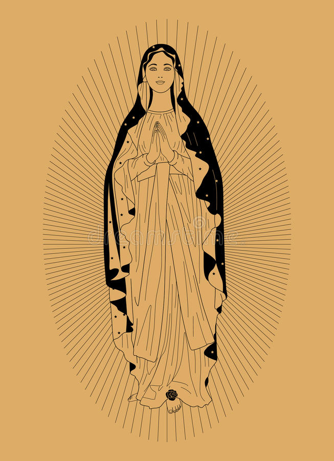 vierge de Mary illustration libre de droits