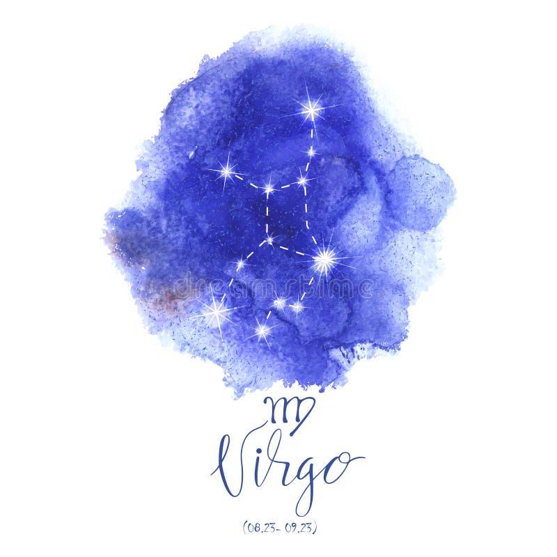Vierge de signe d'astrologie illustration stock