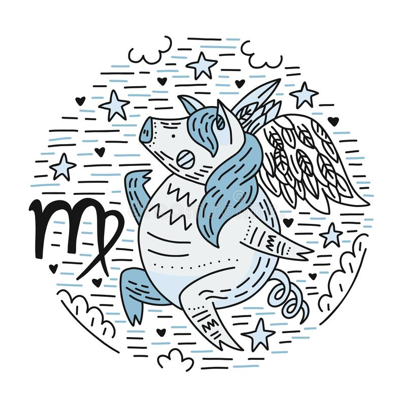 Vierge de Signes de zodiaque illustration de vecteur