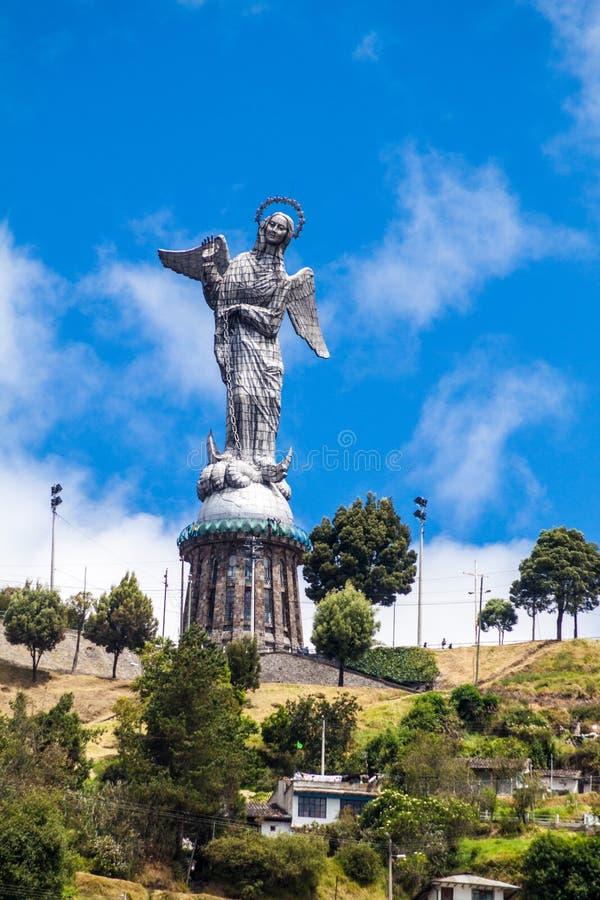 Vierge de statue de Quito image libre de droits