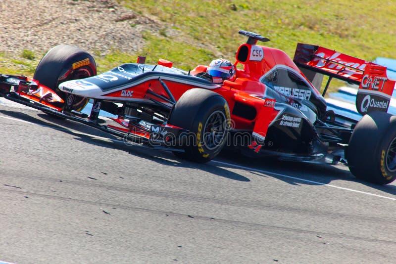 Vierge F1, Timo Glock, 2011 d'équipe photographie stock