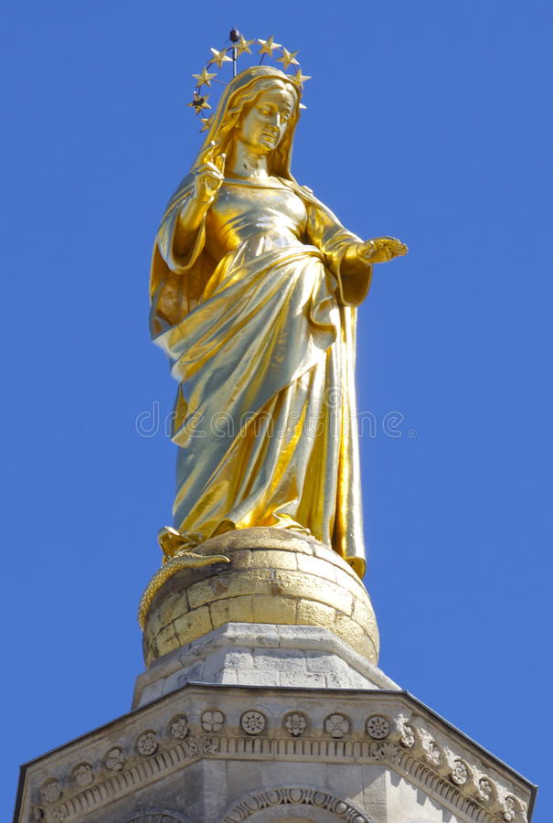 Vierge Marie à Avignon photos stock