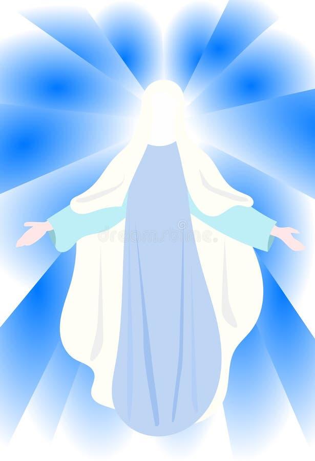 Vierge Marie illustration de vecteur