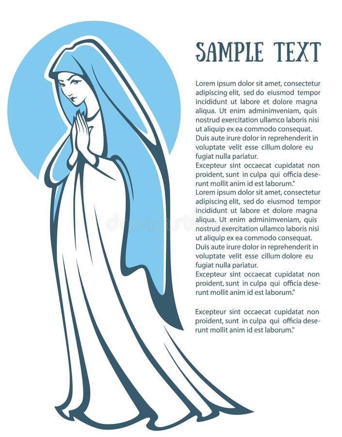 Vierge Marie illustration stock