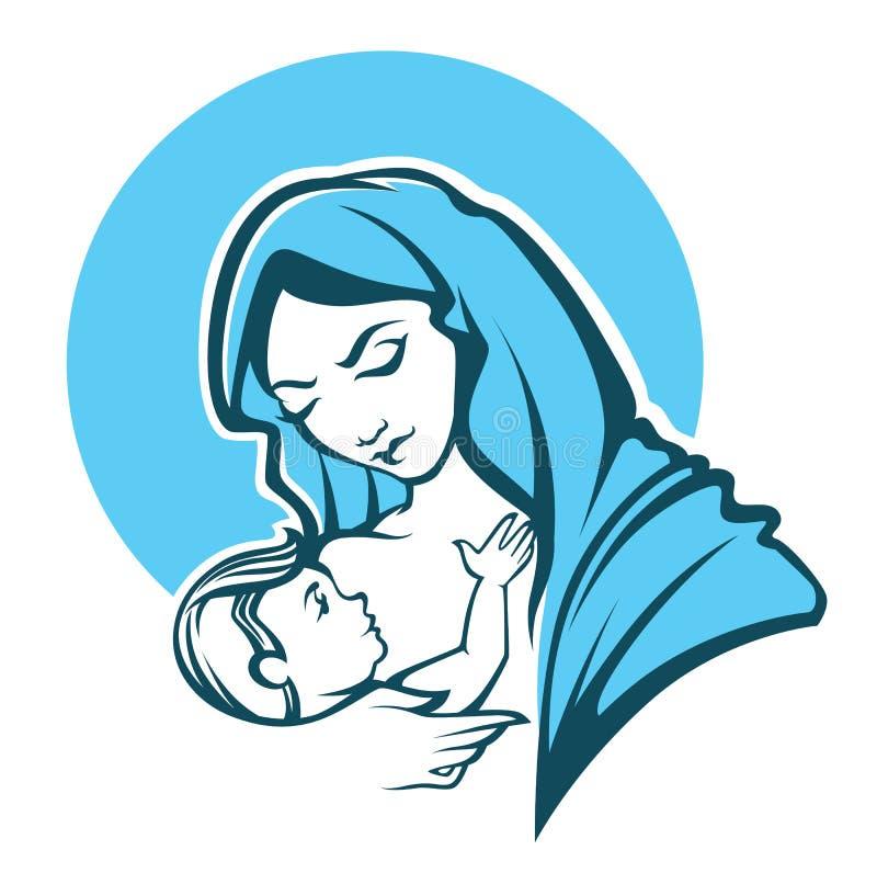 Vierge Marie illustration libre de droits