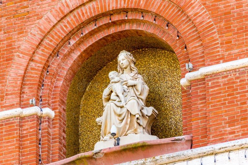 Vierge Marie béni et l'enfant Jésus photo libre de droits