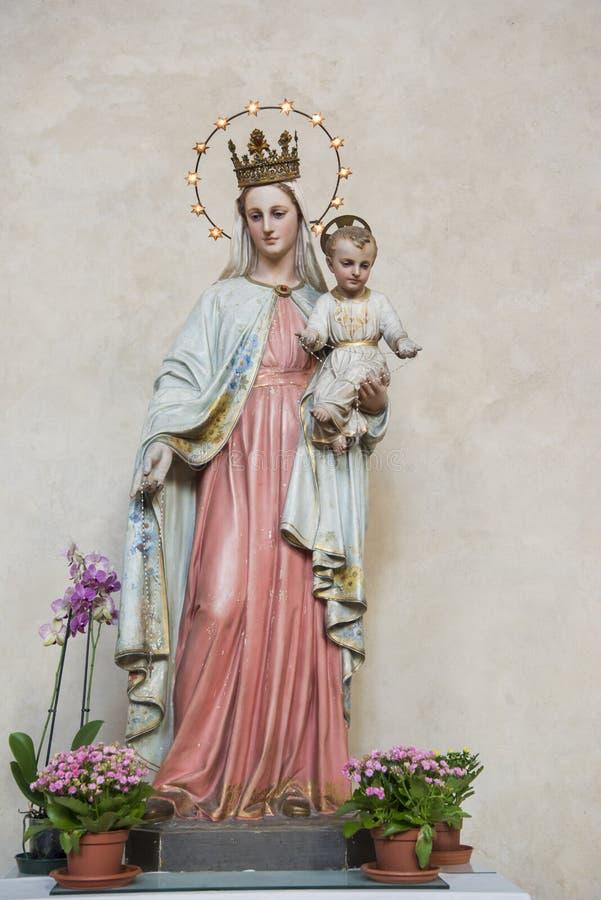 Vierge Marie et enfant Jésus photographie stock