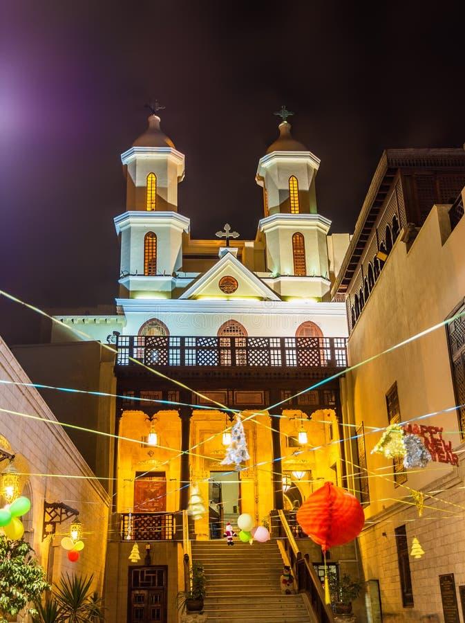 Vierge Mary Coptic Orthodox Church de saint au Caire photographie stock libre de droits