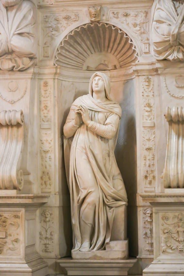 Vierge Mary Sculpture - Vatican, Italie images libres de droits