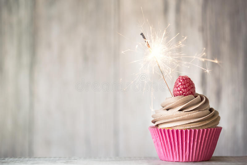 Viering cupcake royalty-vrije stock foto