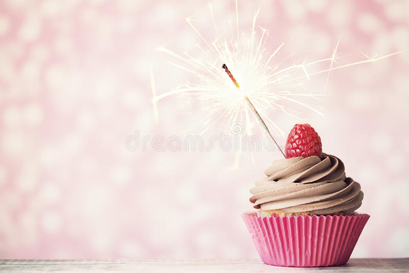 Viering cupcake royalty-vrije stock afbeelding
