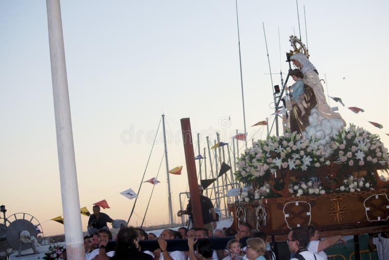 Viering en Optocht van Virgin van Carmen 1 royalty-vrije stock afbeelding