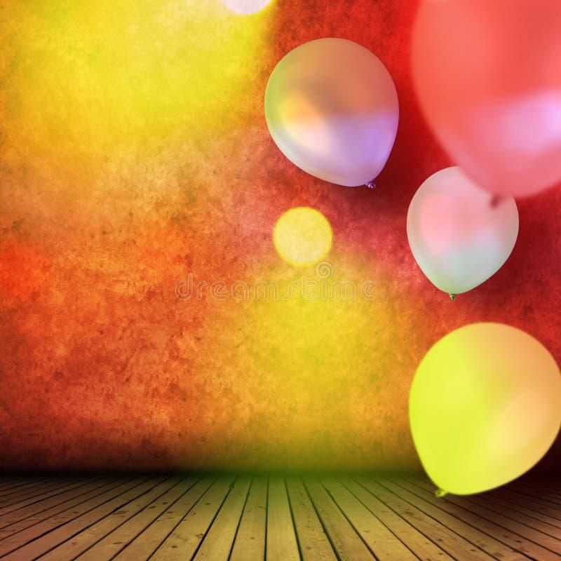 Viering met ballons royalty-vrije stock afbeelding