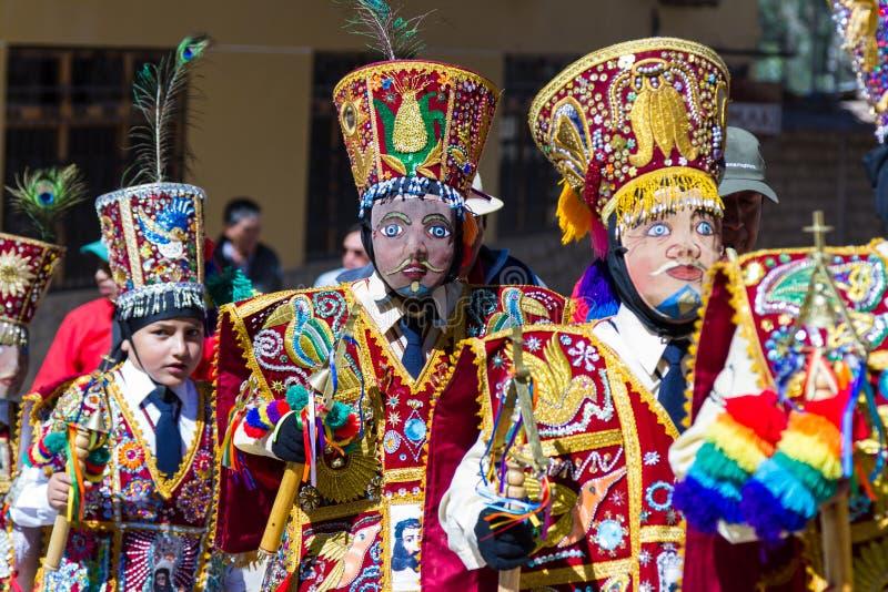 Viering in Ollantaytambo Peru stock foto