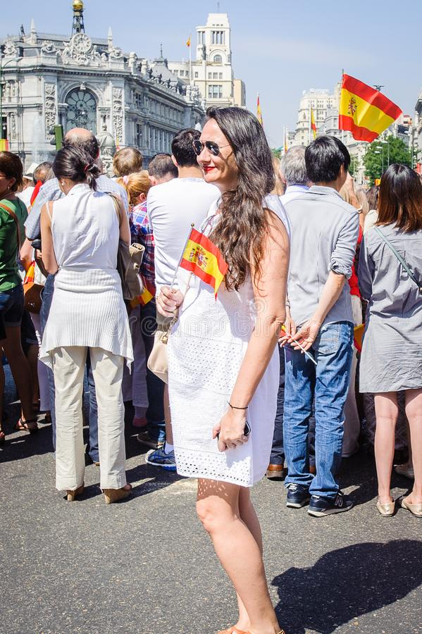 Viering van de kroning van de Nieuwe Koning van Spanje Felipe IV royalty-vrije stock foto
