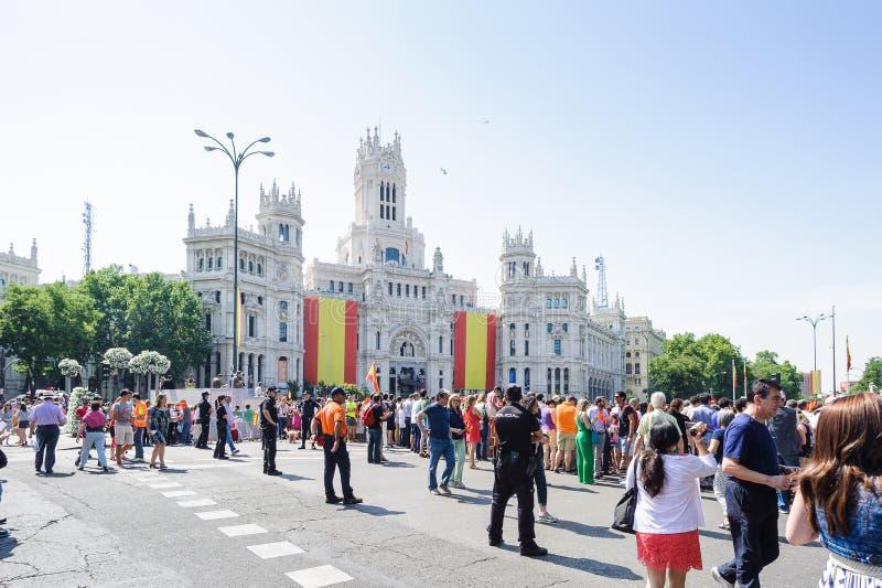 Viering van de kroning van de Nieuwe Koning van Spanje Felipe IV royalty-vrije stock fotografie