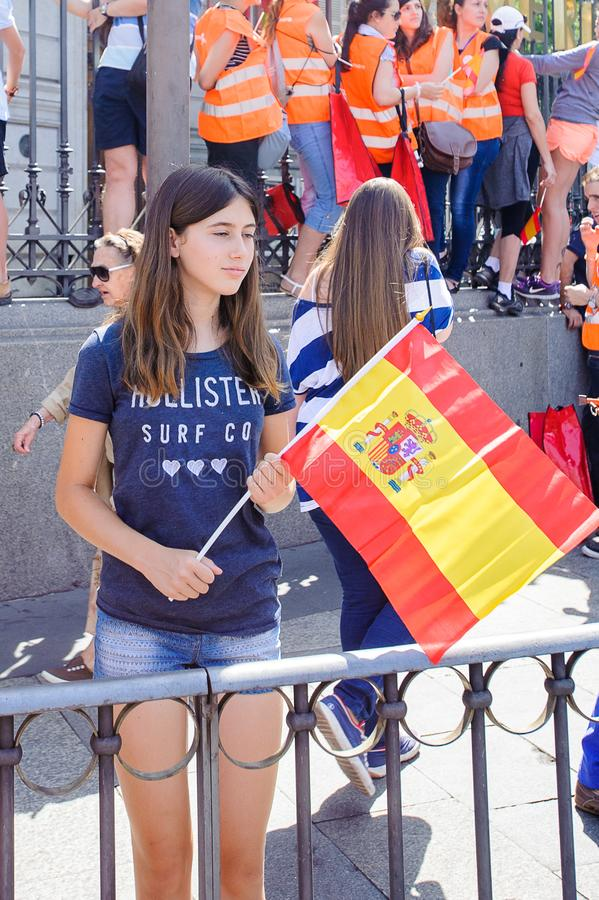 Viering van de kroning van de Nieuwe Koning van Spanje Felipe IV royalty-vrije stock afbeelding
