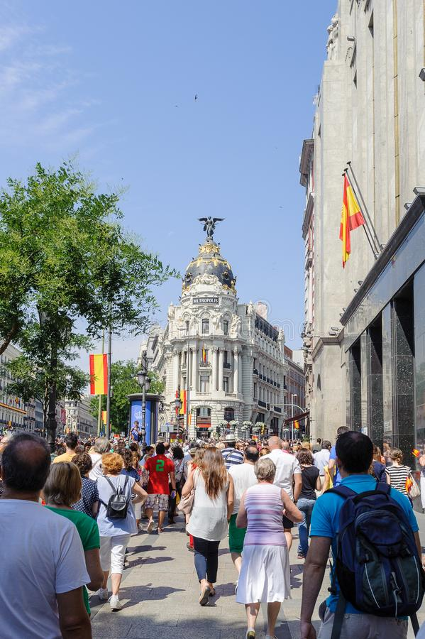 Viering van de kroning van de Nieuwe Koning van Spanje Felipe IV royalty-vrije stock foto's